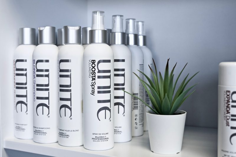 UNITE Hair Care products at Sharper Image Hair Salon