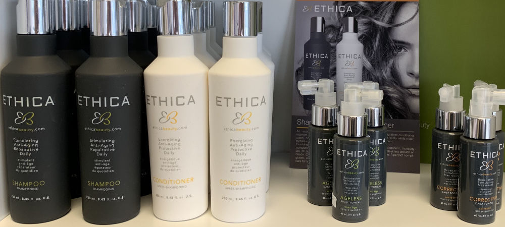 Ethica Shampoo and Conditioner - Hair Care Products at Sharper Image Hair Salon
