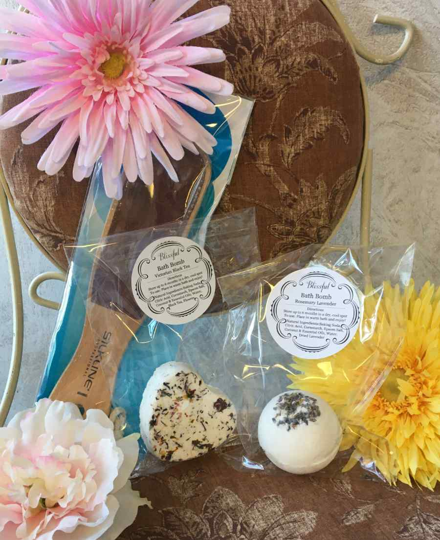 Bath Bombs and Foot File are Great Gifts For Mom at Sharper Image