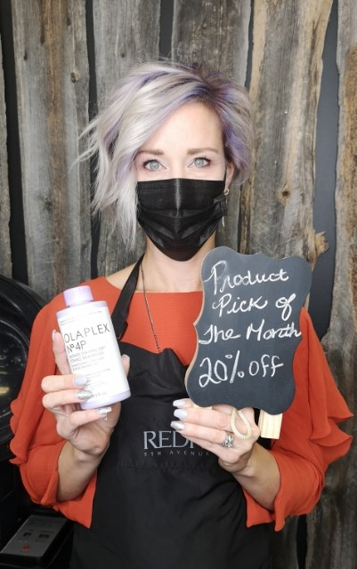 Sherri - Stylist of the Month Recommends Olaplex No4P at Sharper Image Hair Design - Red Deer