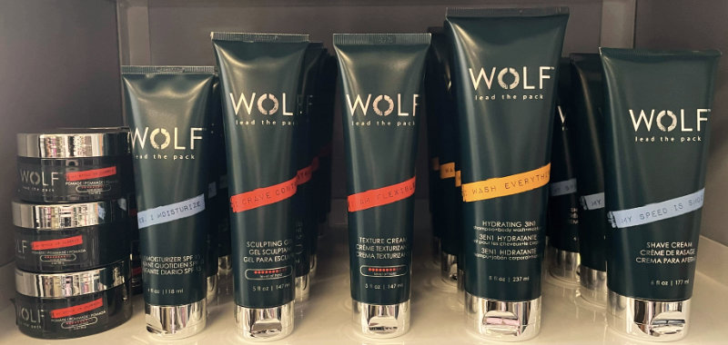 Wolf Mens Hair Care and Shave Cream at Sharper Image Hair Design